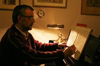 Malcolm Archer composing
